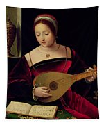 Mary Magdalene Playing The Lute Tapestry