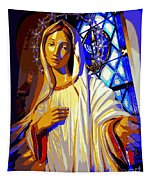 Marys Circle Of Stars Tapestry