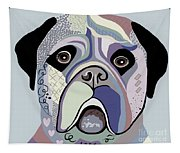 Mastiff In Denim Colors Tapestry