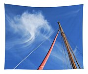 Masts And Clouds Tapestry