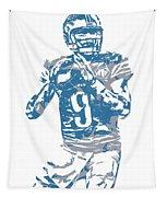 Matthew Stafford Detroit Lions Pixel Art 5 Tapestry