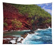 Maui Red Sand Beach Tapestry