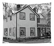 Mayors House Black And White Tapestry