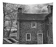 Mcconkey Ferry Inn Black And White Tapestry