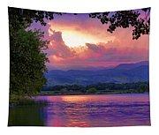 Mcintosh Lake Sunset Tapestry