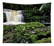 Mclean Falls In Southland New Zealand Tapestry