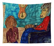 Me And My Granddaughter Tapestry