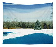 Meadow Snow Tapestry