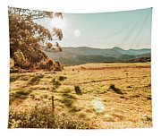 Meadows And Mountains Tapestry