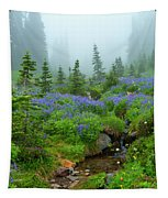 Meadows In The Mist Tapestry