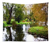 Meandering Creek In Autumn Tapestry