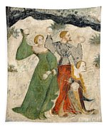 Medieval Snowball Fight Tapestry