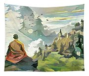 Meditating With Nature Tapestry