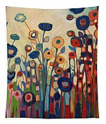 Meet Me In My Garden Dreams Tapestry by Jennifer Lommers