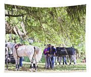 Meet Me Under The Trees Tapestry