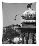 Mehrangarh Fort - Approach With Caution Bw Tapestry