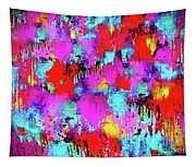 Melting Flowers Abstract  Tapestry
