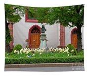 Memorial Of Jp Hebel At Peterskirche In Basel Switzerland Tapestry
