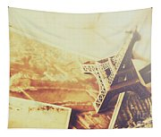 Memories And Mementoes Of Travelling France Tapestry