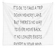 Memory Lane Poem Tapestry
