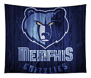 Memphis Grizzlies Barn Door Tapestry