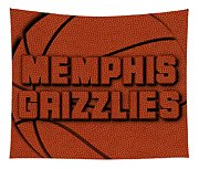Memphis Grizzlies Leather Art Tapestry