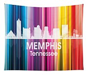 Memphis Tn 2 Squared Tapestry