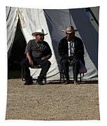 Men Talking Tapestry