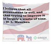 Mencken Quote 6 Tapestry