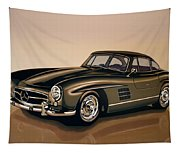 Mercedes Benz 300 Sl 1954 Painting Tapestry