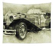 Mercedes-benz Ssk 1 - 1928 - Automotive Art - Car Posters Tapestry