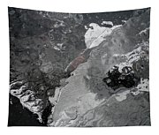 Mercurial Ice Abstract Tapestry