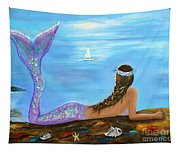 Mermaid Beauty On The Beach Tapestry
