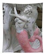 Mermaid In Pink Tapestry