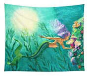 Mermaid's Garden Tapestry
