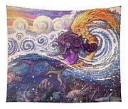 Mermaids In The Surf Tapestry
