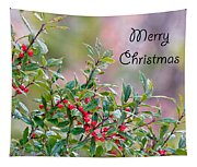 Merry Christmas - Berries Tapestry