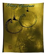 Merry Christmas Greetings In Soft Yellow Tapestry