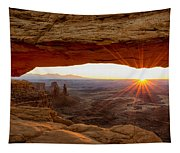 Mesa Arch Sunrise - Canyonlands National Park - Moab Utah Tapestry