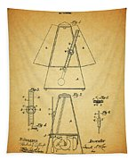 Metronome Patent Tapestry