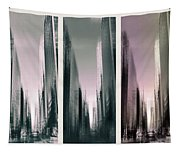 Metropolis Rush Hour Triptych Tapestry