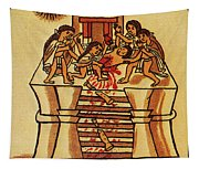 Mexico: Aztec Sacrifice Tapestry
