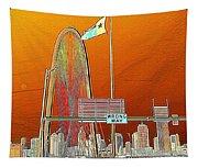 Mhh Bridge Abstract Tapestry