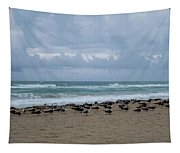 Miami Beach Flock Of Birds Tapestry
