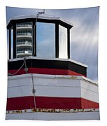 Miami Beach Life Guard House Sunrise Lighthouse Tapestry