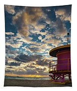 Miami Dawn Tapestry by Dave Bowman