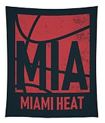 Miami Heat City Poster Art Tapestry