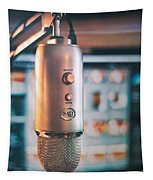 Mic Check 1 2 3 Tapestry by Scott Norris