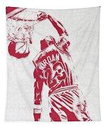 Michael Jordan Chicago Bulls Pixel Art 1 Tapestry