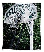 Michigan State Practice Hoop Tapestry